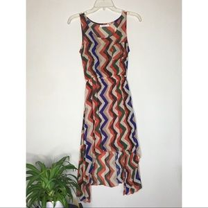 KATIE Pleated Multicoloured Dress